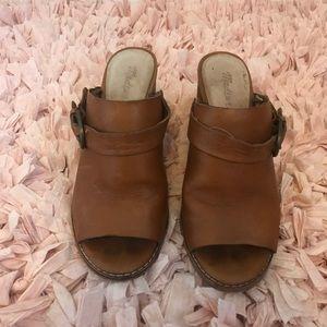 Madewell Mules. 3 1/2 inch block heel. Size 8.